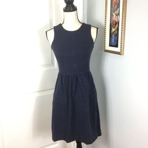 MADEWELL Blue Fit & Flare Dress    Size: XS